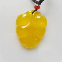 金枝玉叶黄玉髓吊坠