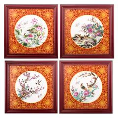 王國喜《四季花開》瓷板畫珍藏 貨號124055