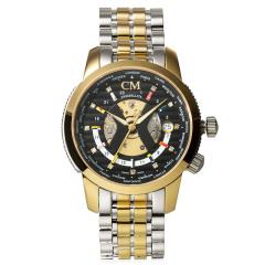 瑞士CM世界时区男士机械腕表 货号120841