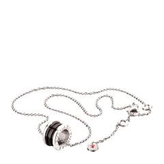 BVLGARI/宝格丽  银链黑色慈善项链挂坠 CL856977  预售